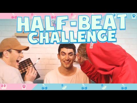 HALF-BEAT CHALLENGE! (feat. Manny MUA) thumbnail
