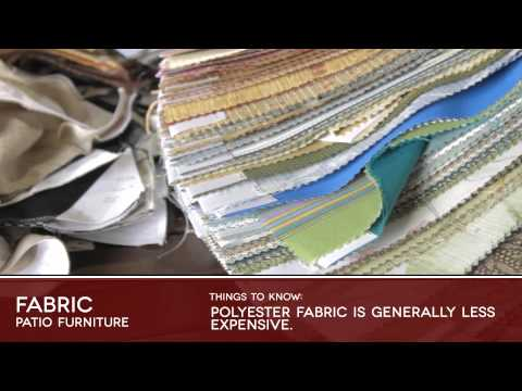 FABRIC Patio Furniture Buyers Guide Video