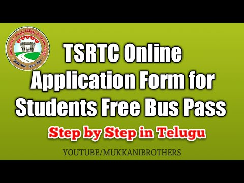 TSRTC Online Application Form for Students Free Bus Pass Step-by-step in Telugu