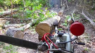 Lloyd 20 HP custom two man chainsaw , made from mercury parts