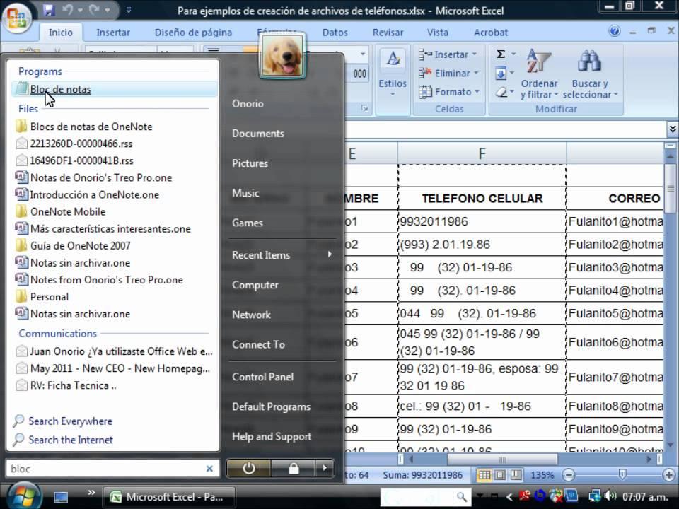 Crear lista de teléfonos desde Excel - YouTube - photo#38
