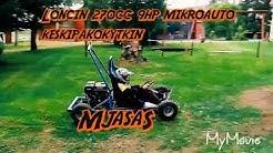 Mikroauto loncin paikallismoottori 270cc 9hp keskipakokytkimellä