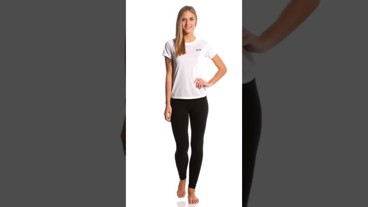 1160d926868a40 TYR Carbon Female Short Sleeve Running Shirt