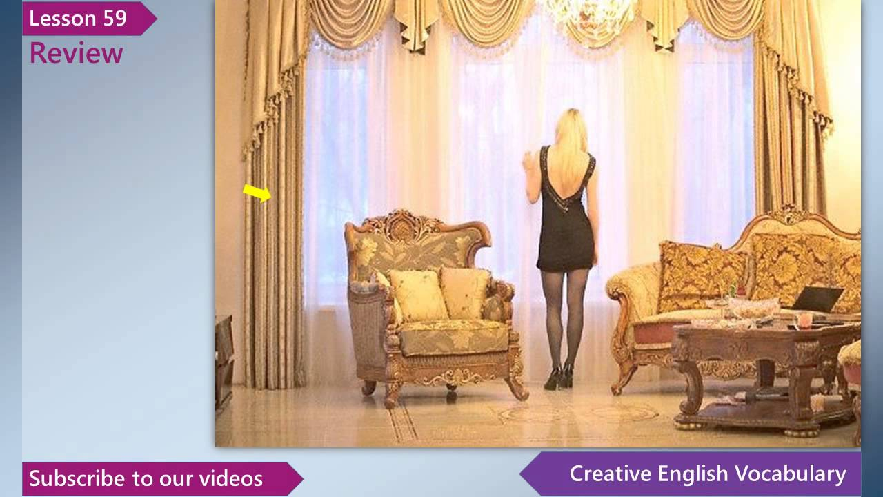 Living Room Furniture Vocabulary learn english - english vocabulary lesson 59 - living room _ free