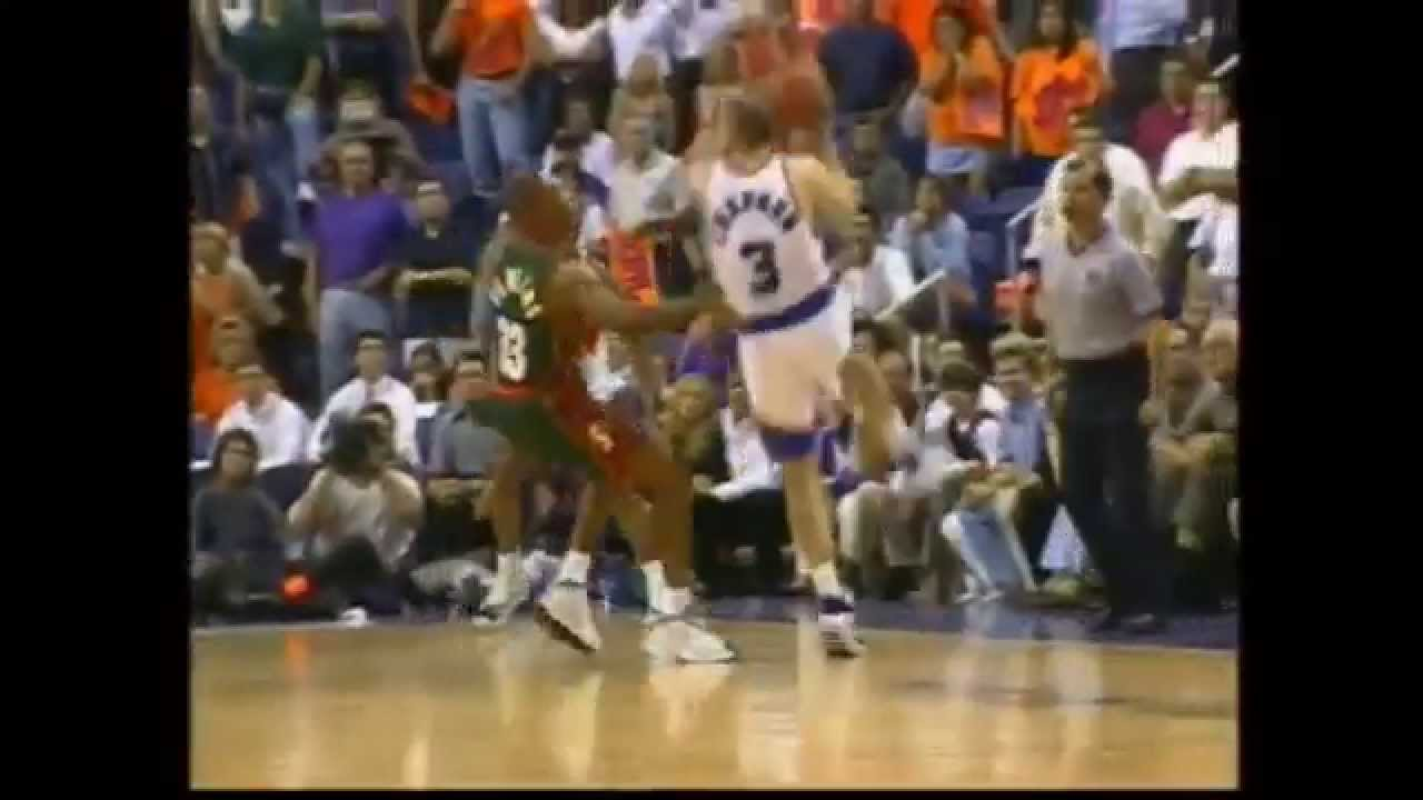 Greatest Moments in NBA History Rex Chapman 3 pointer Shot 1997