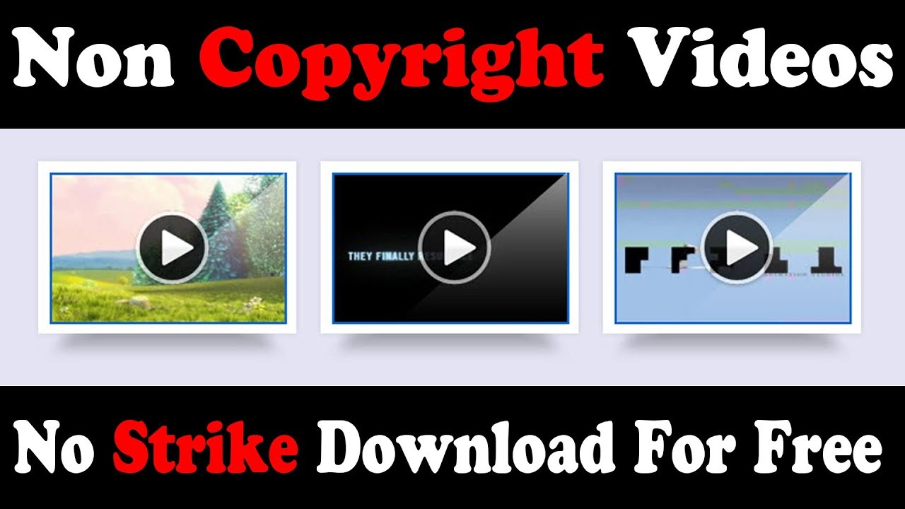 Download No Copyright Videos Download For Free