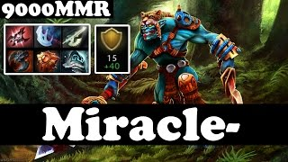 huskar with 50 of armor miracle 9000 mmr ranked match gameplay dota 2