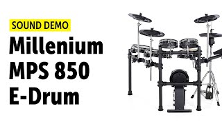 Millenium MPS 850 E-Drum Set - Sound Demo
