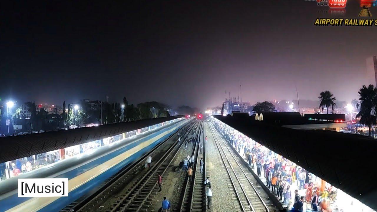 Busy Airport Railway Station || Bangladesh Railway ||