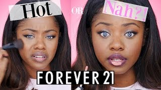 Full Face Using Only FOREVER 21 Makeup 😝 | Review