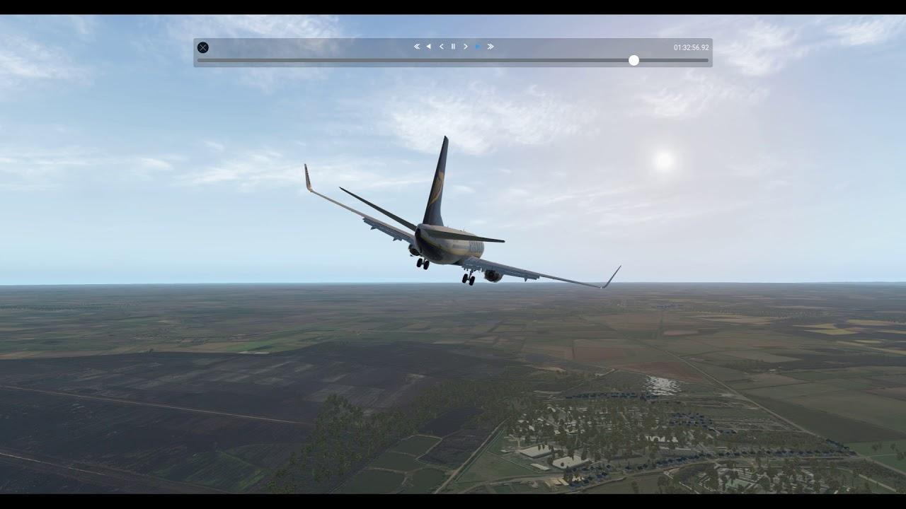 X-Plane 11 B737-800 Zibo Mod Ryanair Livery  DSA Approach & Landing ILS Rwy  20