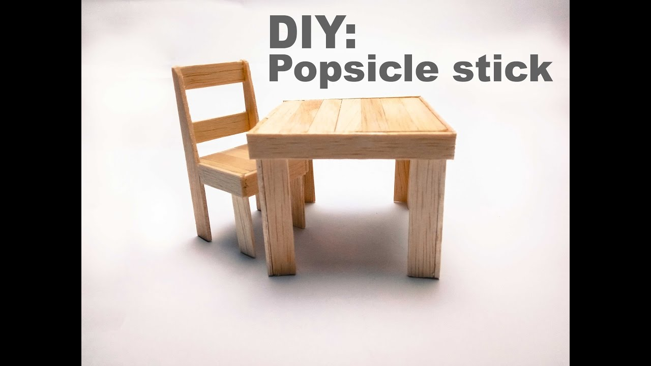 Diy How To Make A Popsicle Stick Chair And Table Youtube