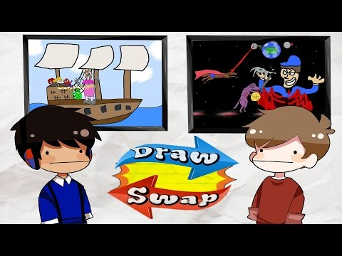 Draw Swap! Playing a Drawing Game... Badly (Ft. Taurtis)