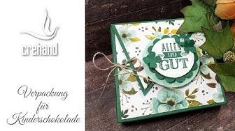 Verpackung für Kinderschokolade - Kreativ mit crehand & Stampin' Up!
