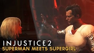 Gambar cover Injustice 2 - Superman Meets Supergirl for the First Time