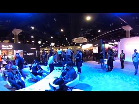 Samsung VR area at E3 in full 360