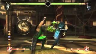 Mortal Kombat 9 - Reptile обучение + комбо