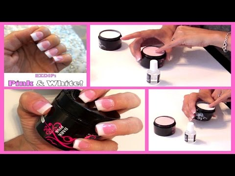 52 Weeks Of Beauty 2017 Week 12 Diy Pink And White Ezdip Nails Tutorial You