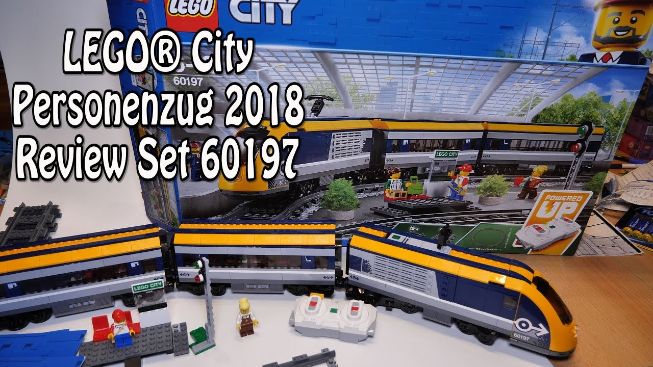 Lego Personenzug 2018 City Set 60197 Im Deutschen Review Youtube