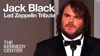 """Jack black introduces the """"best band ever"""" -- 2012 kennedy center honorees led zeppelin.the honors are given annually to select performing art..."""