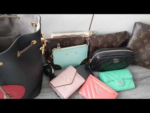 c737c9e4de7 Fendi Mini Mon Tresor Logo Leather Bucket Bag 👜 - YouTube