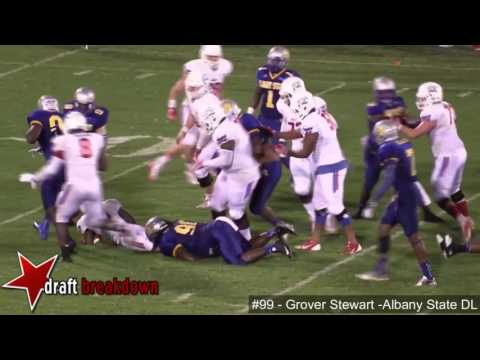 Grover Stewart (Albany State DL) vs West Georgia 2016