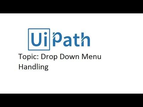 Drop down Menu - UIPath tutorial For Beginner - YouTube