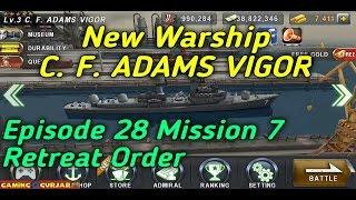 warship battle c f adams vigor episode 28 mission 7