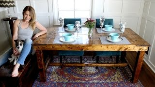The 50 Farmhouse Table - DIY Project
