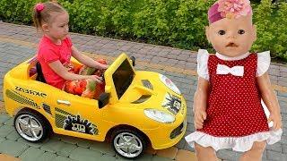 Кукла Беби Бон и Кира уехали на детскую площадку