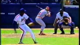 Pete Rose gets a hit off Gooden