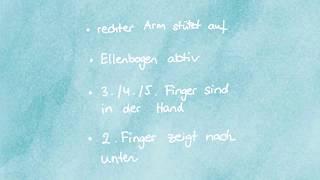 Übung 2 rechte Hand mit zwei Fingern