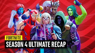 Fortnite Season 4 Ultimate Recap WATCH BEFORE THE GALACTUS EVENT