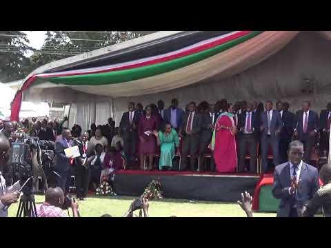 Marion Cherotich and Uhuru Kenyatta
