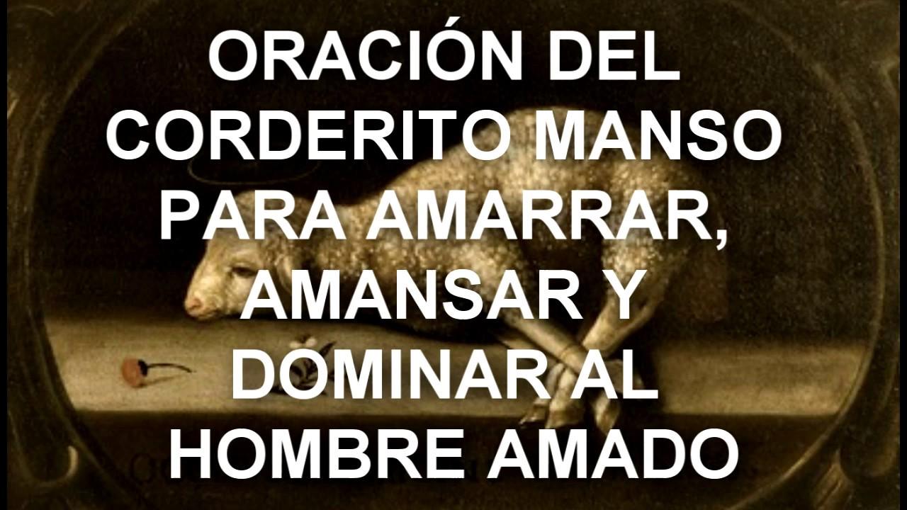 ORACIÓN DEL CORDERITO MANSO PARA AMARRAR, AMANSAR Y DOMINAR AL ...