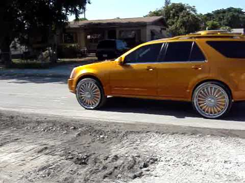 2006 Cadillac Srx Candy Gold On 26 Quot Dub Youtube
