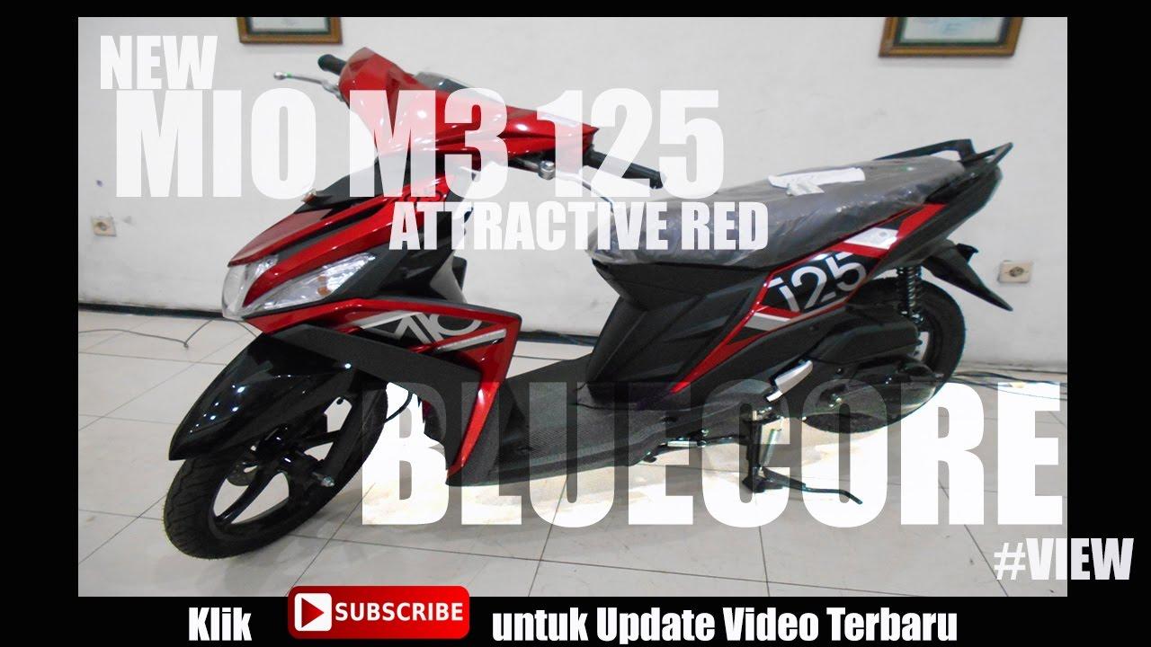 new mio m3 125 bluecore 2017 #merah #listbaru #view - youtube