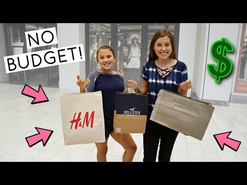 TEEN CLOTHES SHOPPING! NO BUDGET!