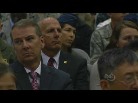 Carter Speaks at Stratcom Change of Command