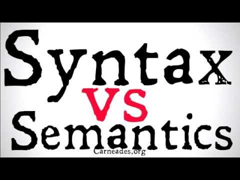 Syntax vs Semantics (Philosophical Distinctions)