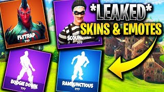 *NEW* *LEAKED* FORTNITE SKINS AND EMOTES | (Flytrap,Scoundrel,Boogie Down)!!!