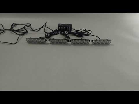 4In1 16 LED Flash Strobe Warn Deck Dash Remote Control Grill Light Bar Amber White