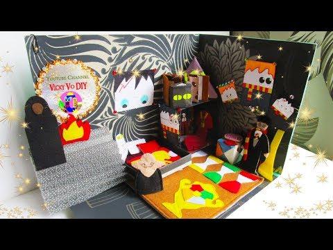 DIY Гарри Поттер. Кукольный Домик своими руками из картона для Барби. Мини румбокс для дочки