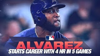 Yordan Alvarez's historic start to his career continues!