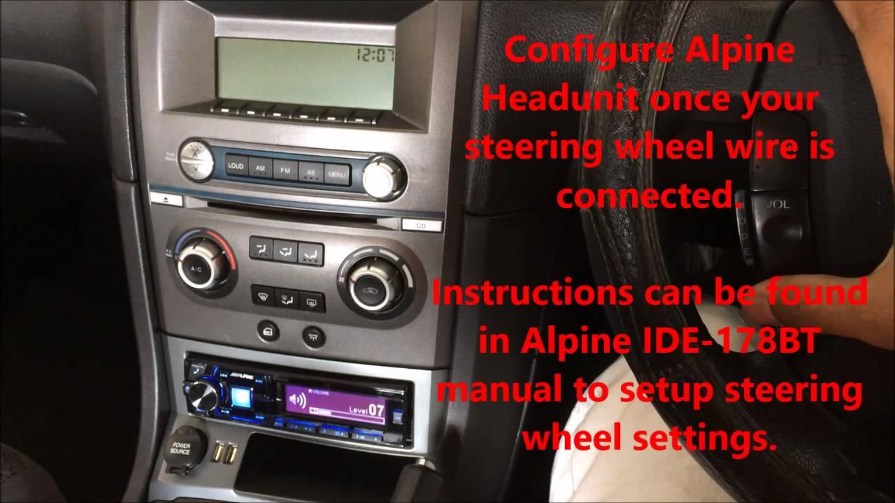 Ford BA Steering Wheel Control using Alpine IDE178BT