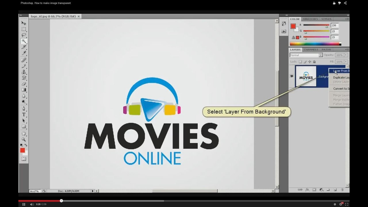 Logo hintergrund transparent photoshop