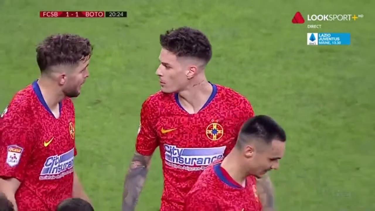 GOOOL! FCSB - FC Botoșani 1-1. Dennis Man egalează, după o gafă incredibilă a lui Șeroni