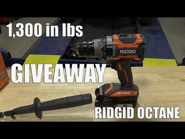 GIVEAWAY | Ridgid 18-Volt OCTANE  Brushless 1/2 in. Hammer Drill/Driver with 1,300 in lbs of Torque