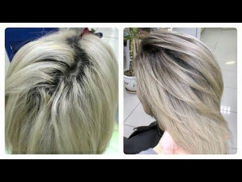 Затемнение корней у блондинок. Окрашивание блонд. ФОРМУЛА.