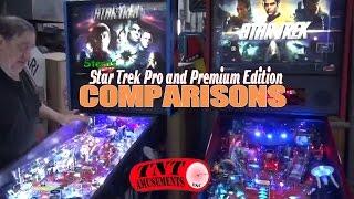 #934 Stern STAR TREK PRO & PREMIUM Pinball Machines Compared! Plus T2! TNT Amusements